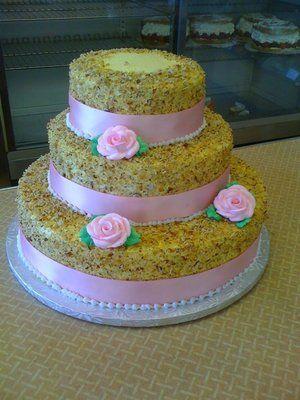 Peters Bakery Burnt Almond Cake Almond Wedding Cakes Almond