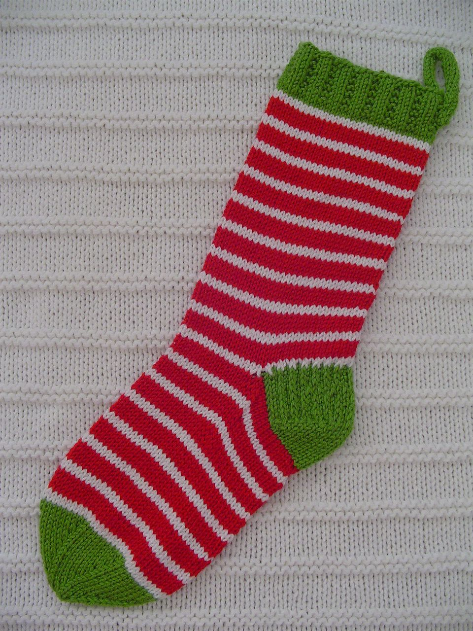 Christmas Stocking - Funky - Hand Knit - CHRISTMAS in August - FREE ...
