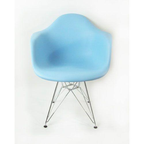 Best Blue Mid Century Eiffel Arm Chair Control Brands Arm 400 x 300
