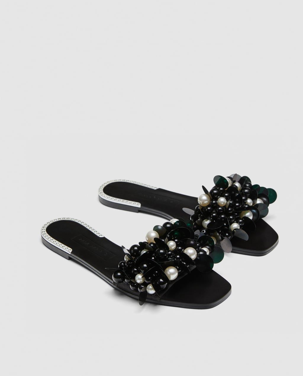 PEARL BEADS from Zara   Pearl sandals