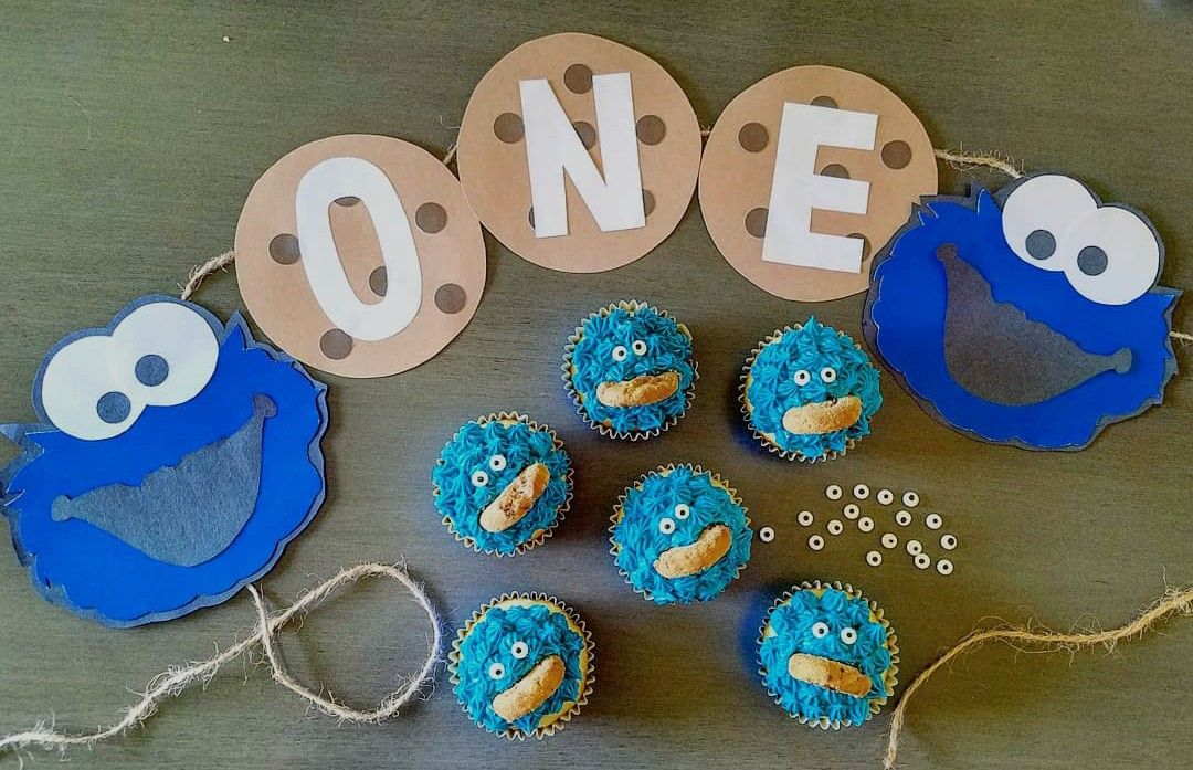 Cookie Monster Banner Cookie Monster Party Cookie Monster Party Decorations Diy Sesam Cookie Monster Party Birthday Party Decorations Diy Diy Birthday Party