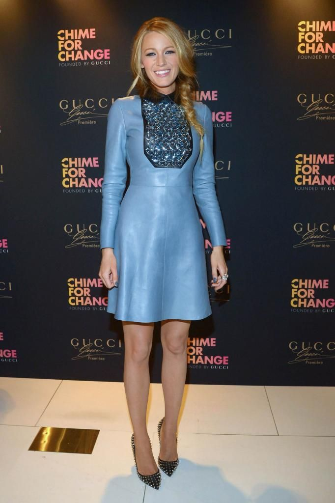 Blake Lively attends Gucci Parfums CHIME FOR CHANGE Launch Event