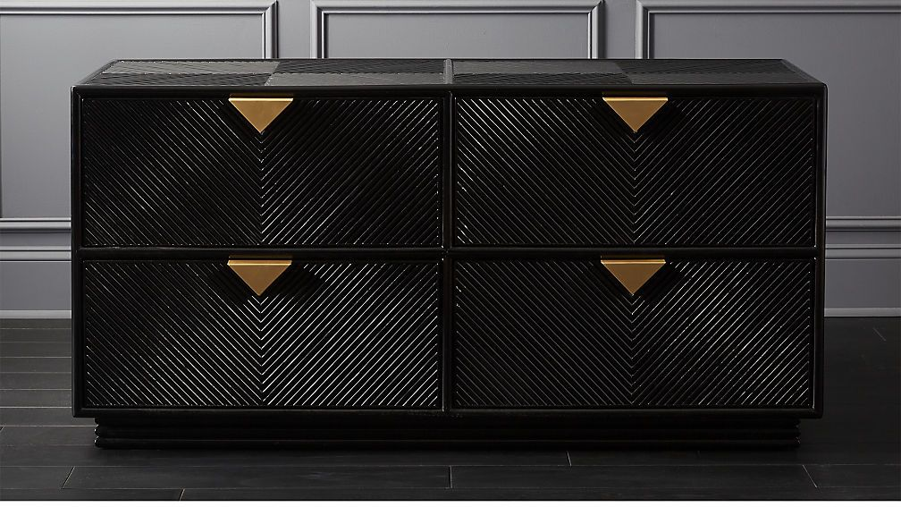Ivo Low Black Dresser Cb2 Modern Dresser Black Dressers Low Dresser