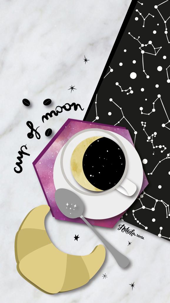 Wallpapers Telephones Cup Of Moon Natacha Birds Fond Ecran Fond D Ecran Telephone Idees De Papier Peint