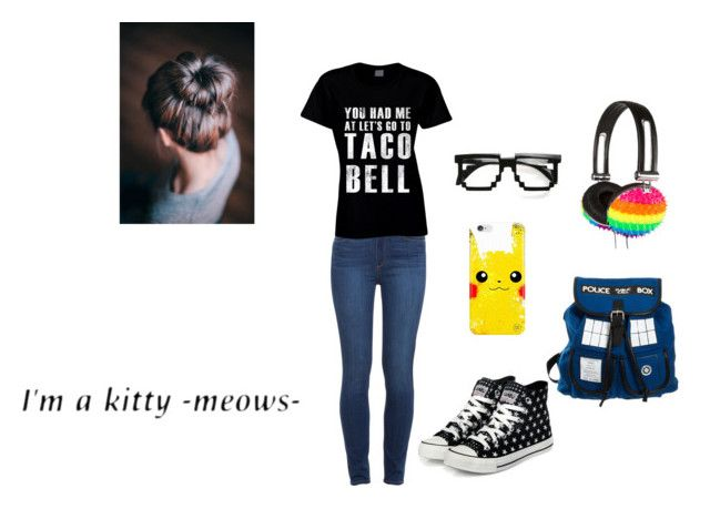 """I'm Back In Nerd Style"" by ems-a-kitty ❤ liked on Polyvore featuring Paige Denim, claire's and yeswalker"