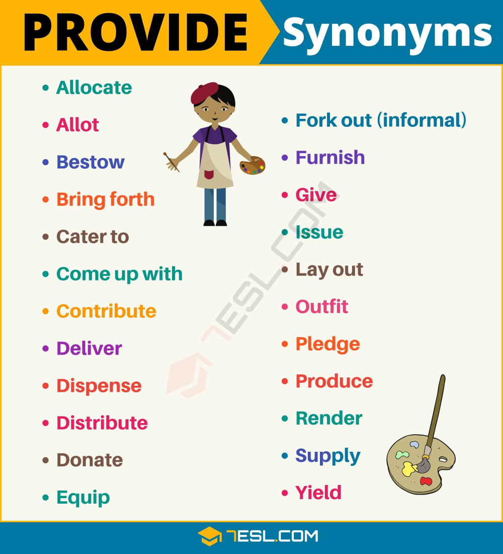 Another Word For Provide List Of 105 Synonyms For Provide In English 7esl English Vocabulary Words Writing Words Learn English Words