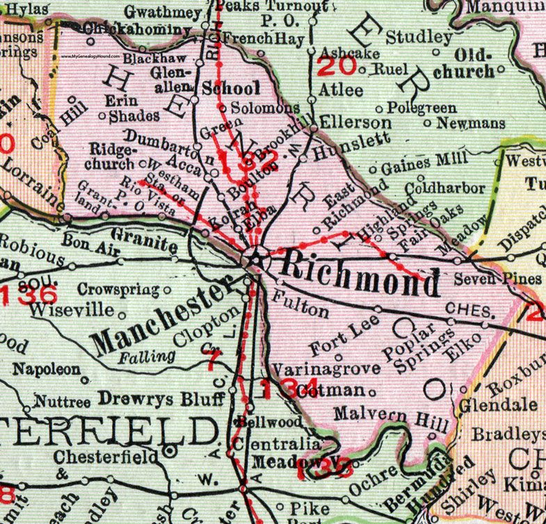 Henrico County, Virginia, Map, 1911, Rand McNally, Richmond ... on stanleytown va map, roanoke va map, richmond va map, galax va street map, sterling va map, dyke va map, lightfoot va map, chantilly va map, henrico va map, manchester va map, richmond city virginia map, chesterfield va map, alexandria va map, woodbridge va map, bottoms bridge va map, kents store va map, marine corps base quantico va map, the plains va map, mechanicsville va map, charlottesville va map,