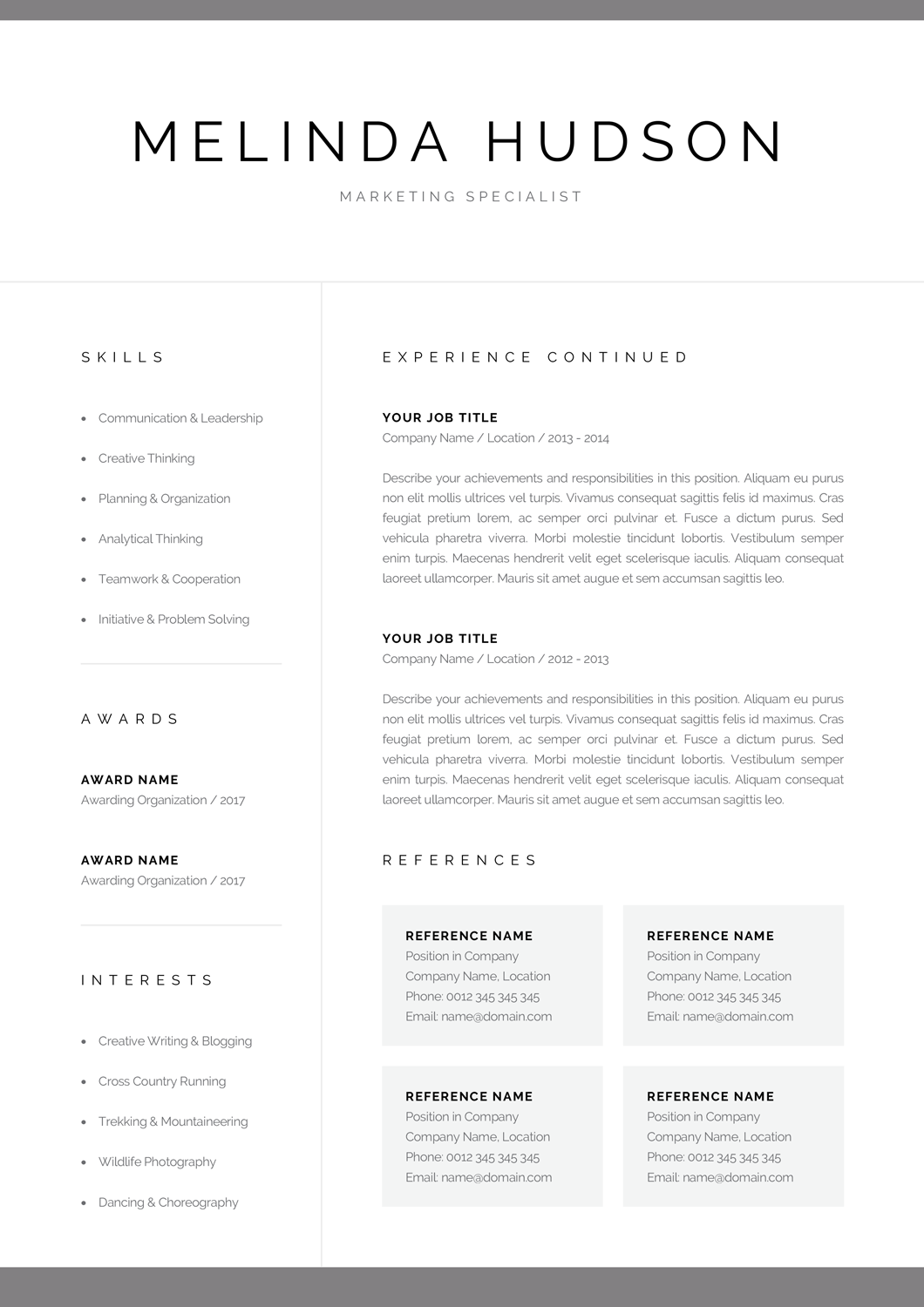 Modern Resume Template For Word Mac Pages Professional 1 Etsy Resume Template Word Modern Resume Template Resume Template