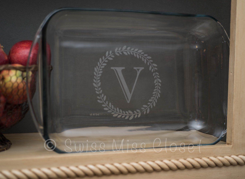Personalized 9x13 Inch 3 Quart Glass Baking Dish Custom Engraved