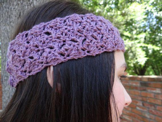 Purple Blend Crocheted Summer Headband by ThePurpleTreebySarah