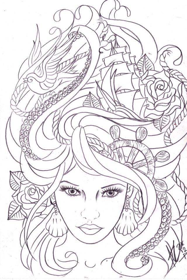 So pretty! Would love to see it colored!! | Dibujos | Pinterest ...