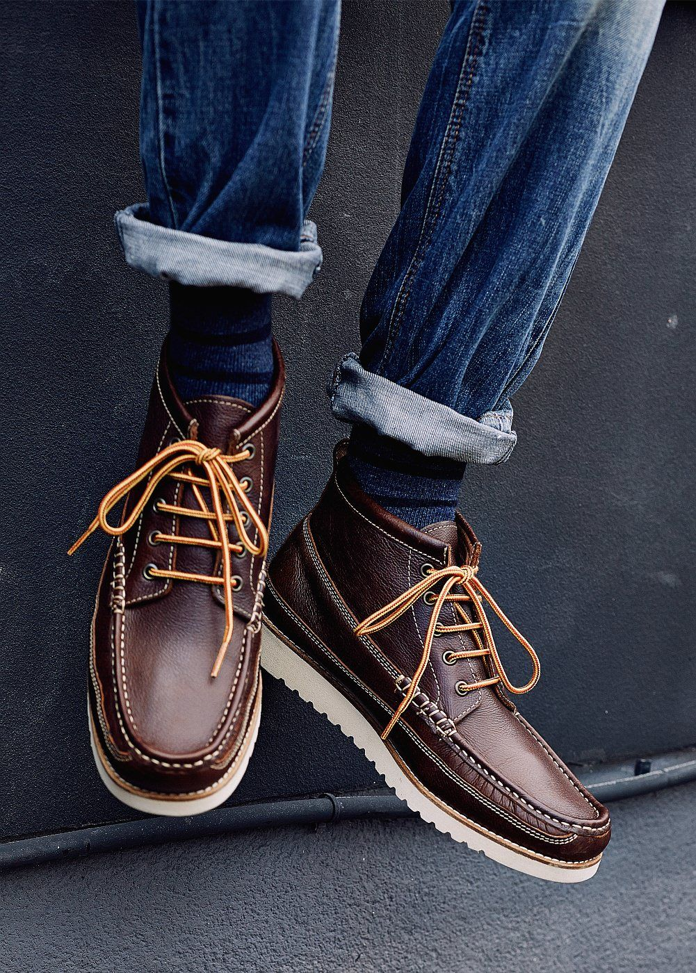 Leather worker boots - Man   Worker