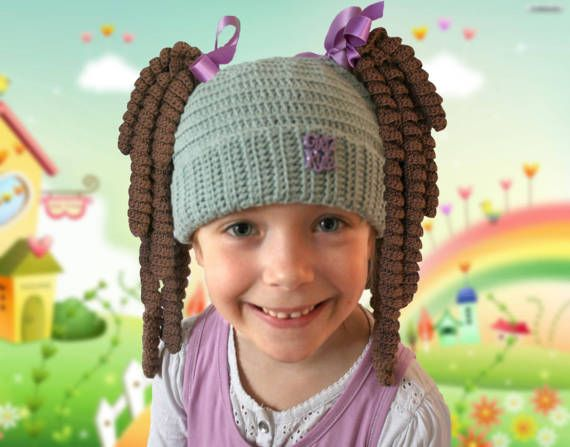 bb6c9de53c8 Lala Loopsy inspired crochet hat. Hat with pigtails