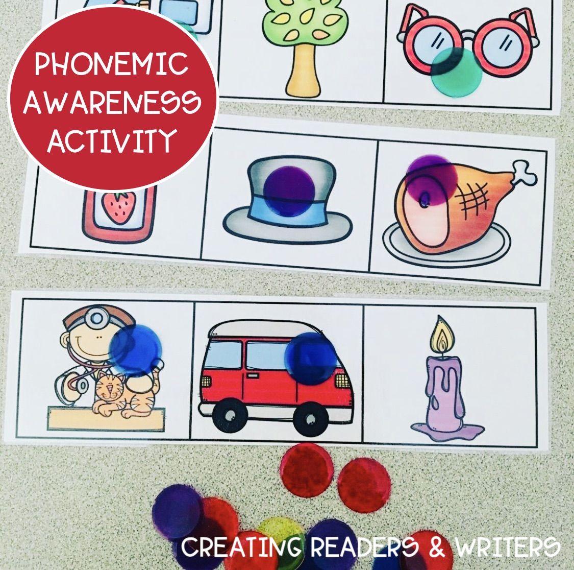 Phonemic Awareness Freebie In