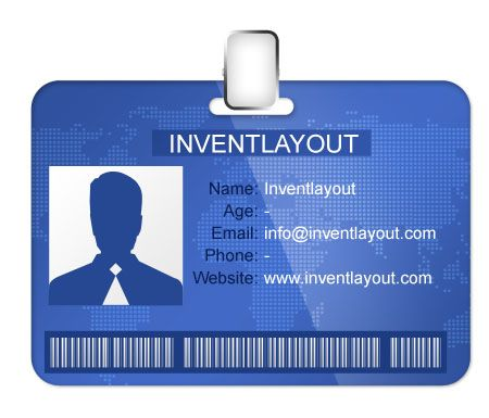Identification Card PSD Pinterest Template - Card template free: employee id card template