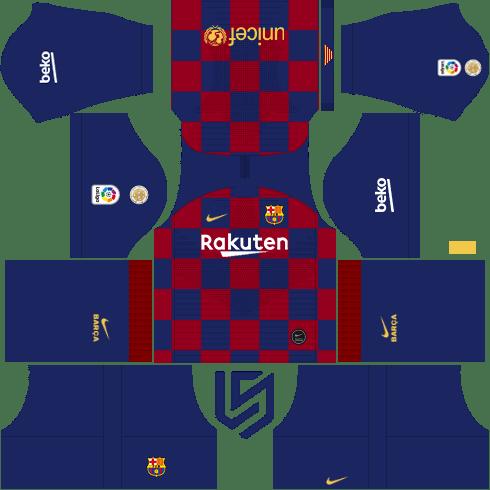 Barcelona Kit Dls 19 20 Rakuten Barcelona Soccer Barcelona Football Kit Soccer Kits
