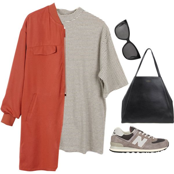 Untitled #6358 by heynathalie on Polyvore featuring mode, Monki, New Balance, Smythson, women's clothing, women's fashion, women, female, woman and misses