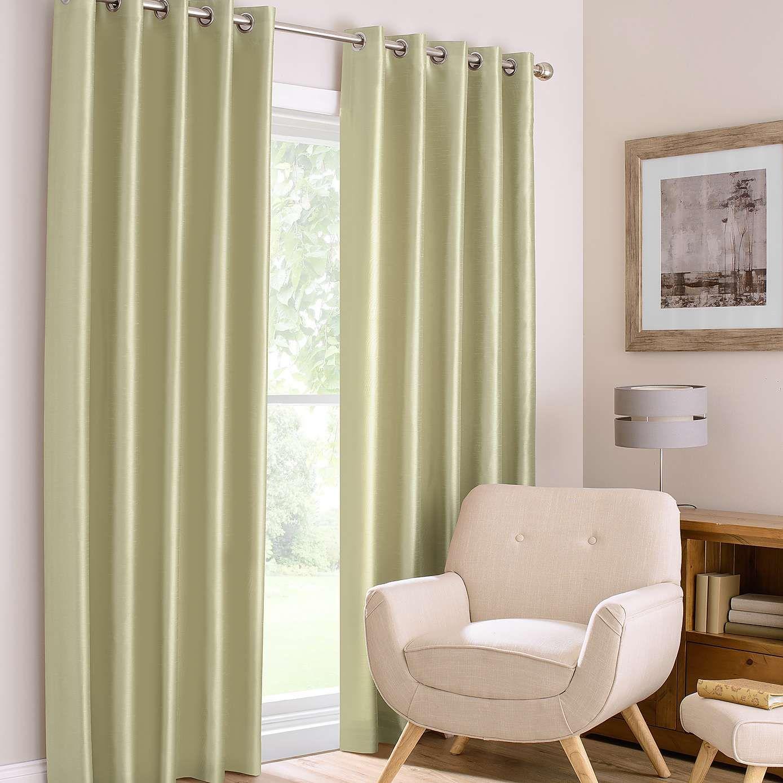 Montana Green Lined Eyelet Curtains | Dunelm | Curtains | Pinterest ...