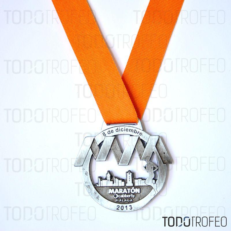 MEDALLA MARATÓN DE MÁLAGA 2013. Diseñamos las medallas