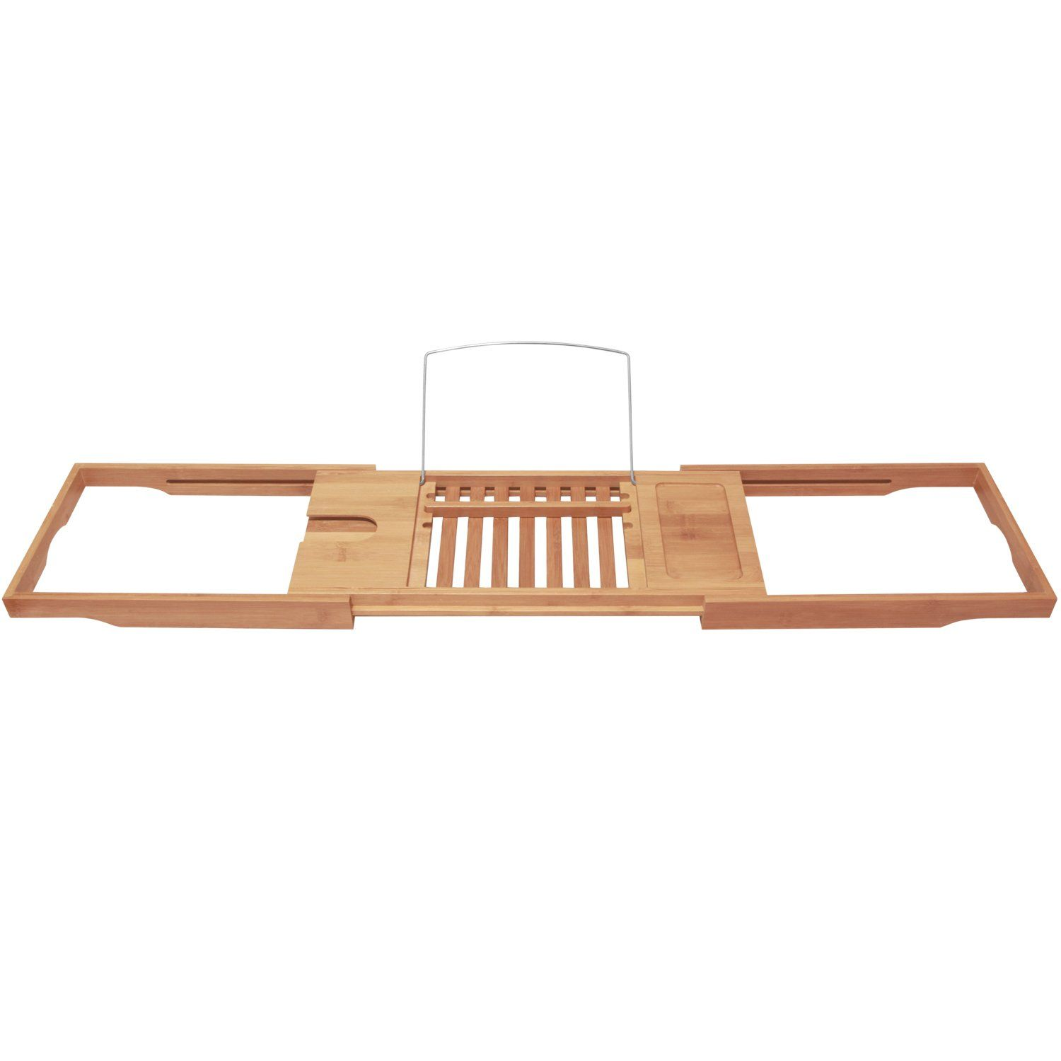 Amazon.com - Bamboo Bathtub Caddy with Extending Sides by ToiletTree ...