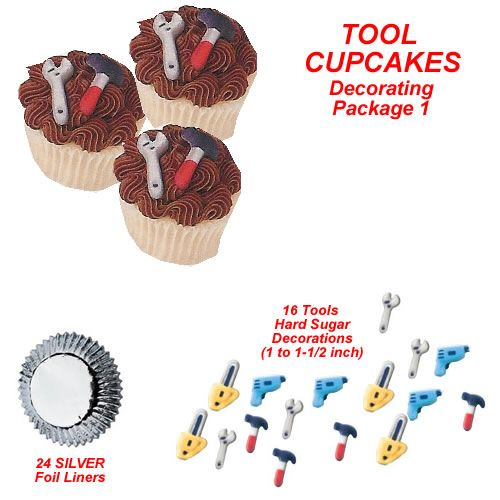 Edible Tools Cupcake Decorating Kits Party Pinterest Birthdays