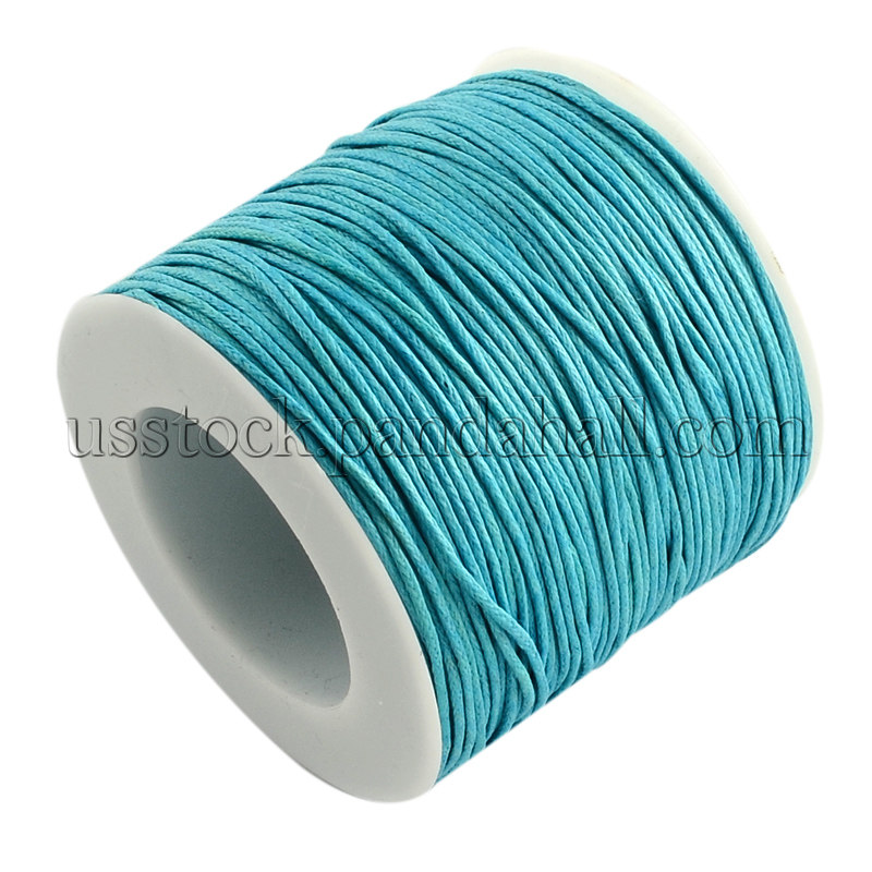 1 Roll  Korean Black Wax Polyester Cord 1mm Crafts Jewelry Making 100yard//roll