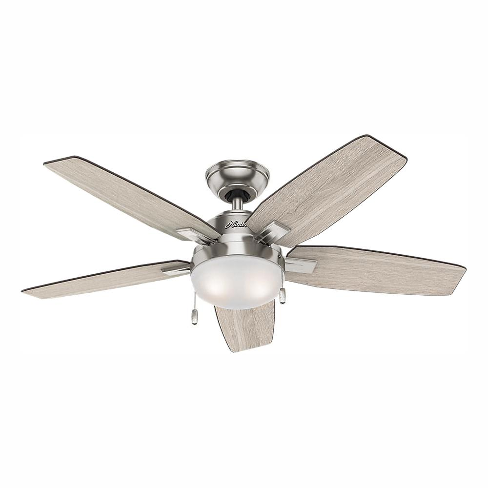 Hunter Antero 46 In Led Indoor Brushed Nickel Ceiling Fan With