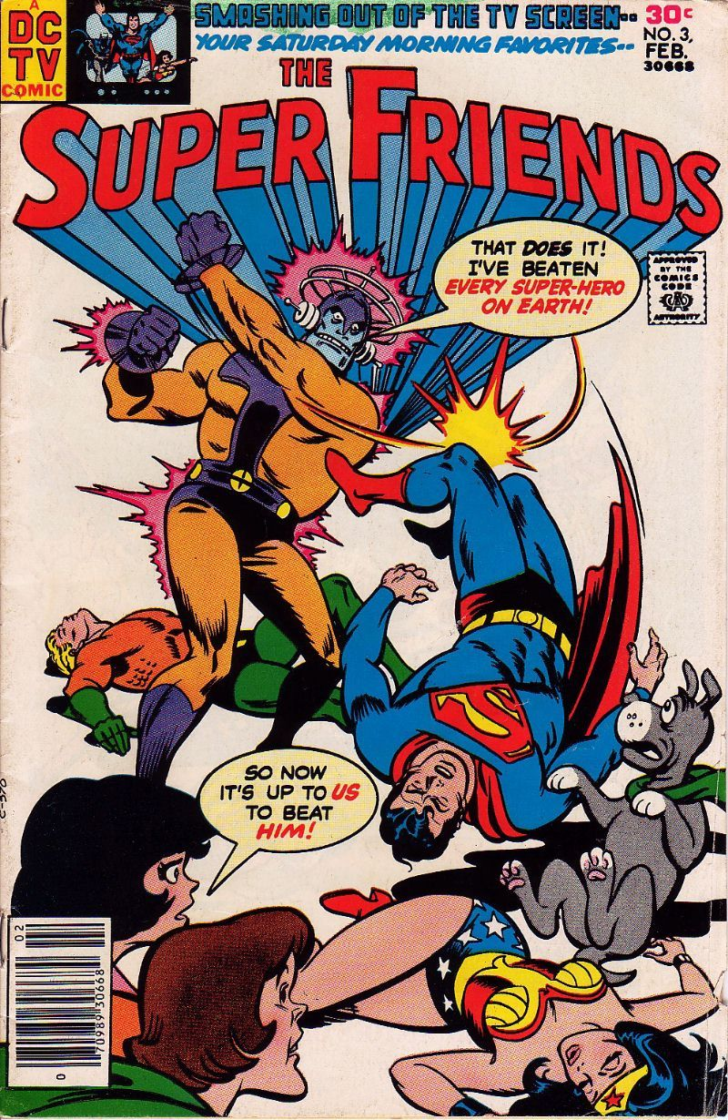 Super Friends #3 (February 1977) - Cover by Ramona Fradon and Bob Smith