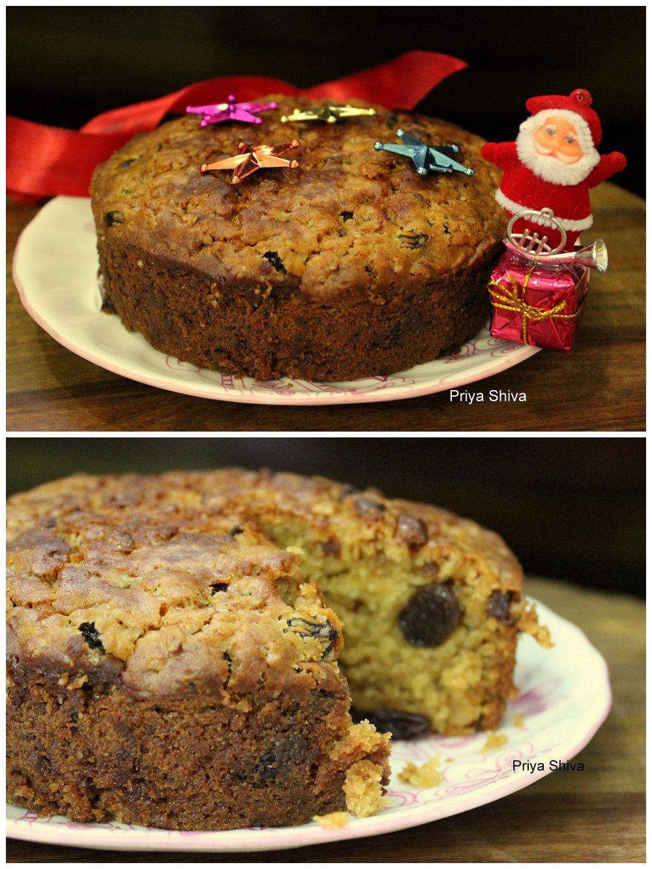 Eggless christmas fruit cake spiced rum fruitcake
