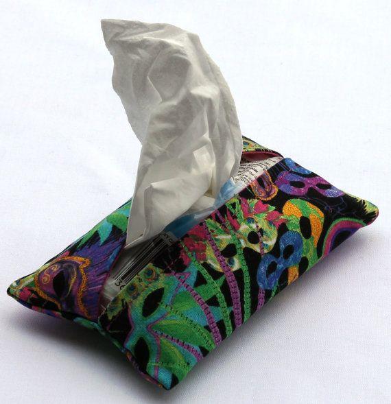 Handmade Tissue Holder Kleenex Holder by EmbellishByAndrea on Etsy, $4.00