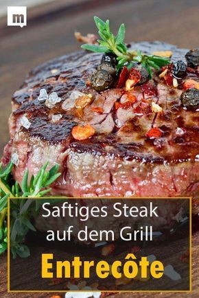 Photo of Grilling entrecote: the juicy steak perfectly on the grill …