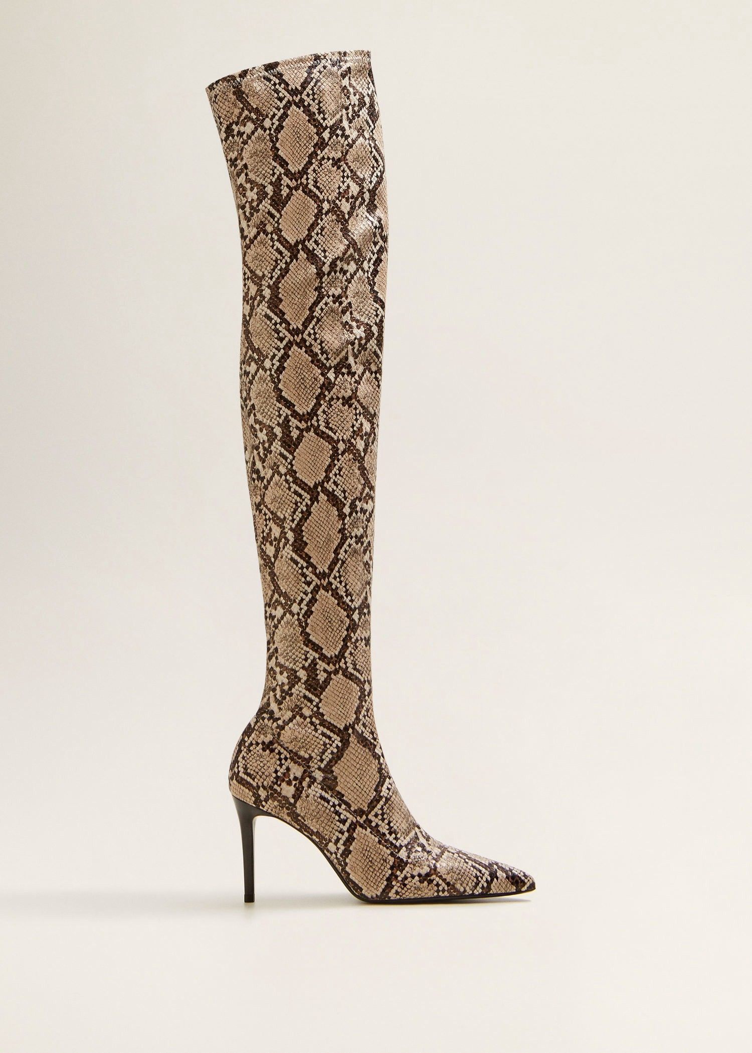 c87033801010e Snake effect high-leg boots by Mango   Products   Boots, High leg ...