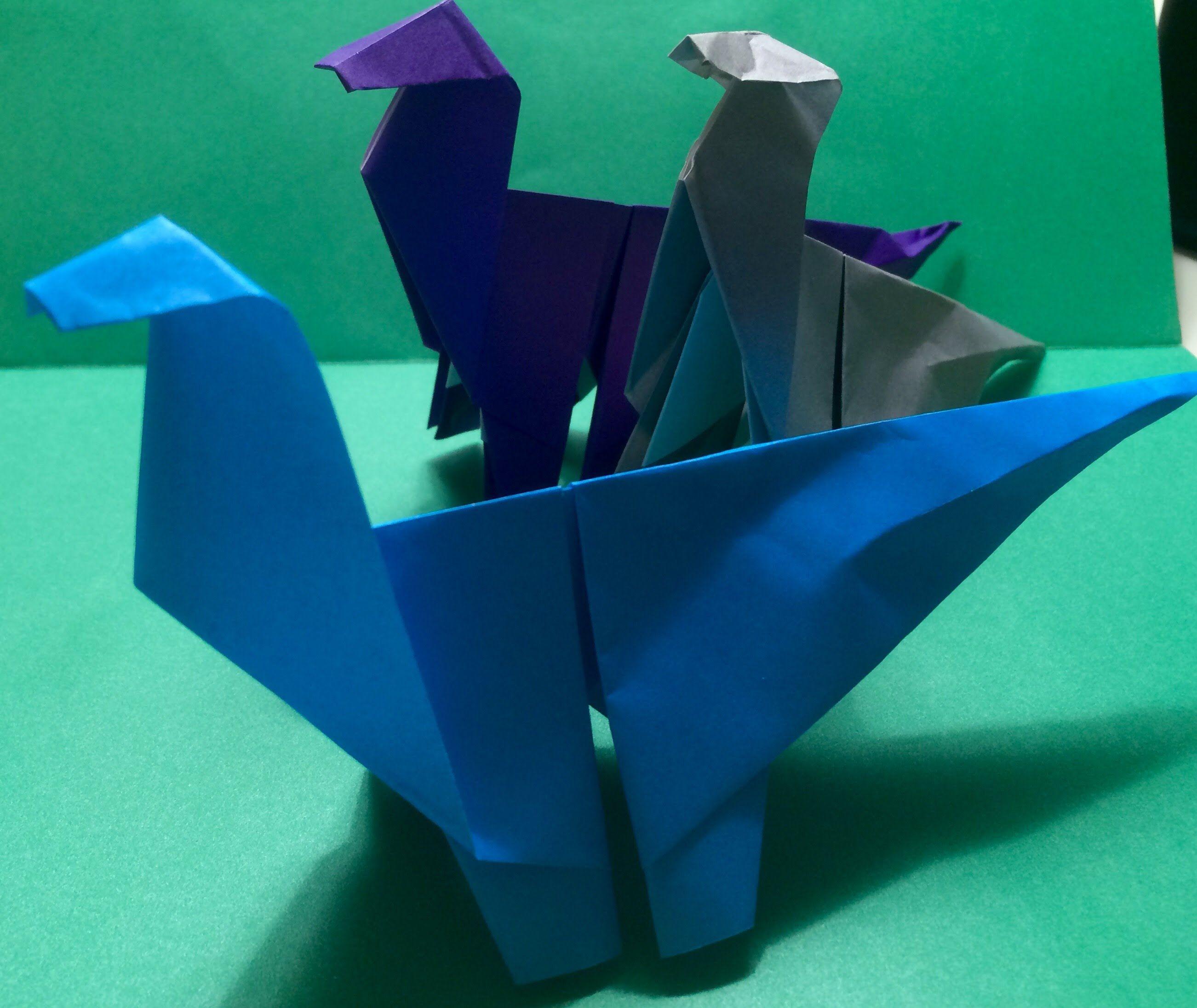 Origami Dinosaur | Origami | Origami, Origami animals ... - photo#36