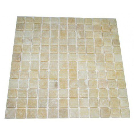 1x1 Honey Onyx Square Pattern Tumbled Mosaic Tile Tile Mesh Mosaic Tiles Onyx Tile