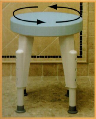 BathSafe Rotating Compact Shower Stool swivels 360 degrees, fits ...