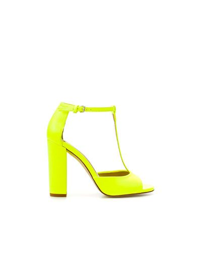 Women Neon Black Orange Green Pink Lycra Strappy Toggle Heels Pointed Toe Thin Heels Sandlas Fashion New Arrival Solid Shoes Reliable Performance Shoes