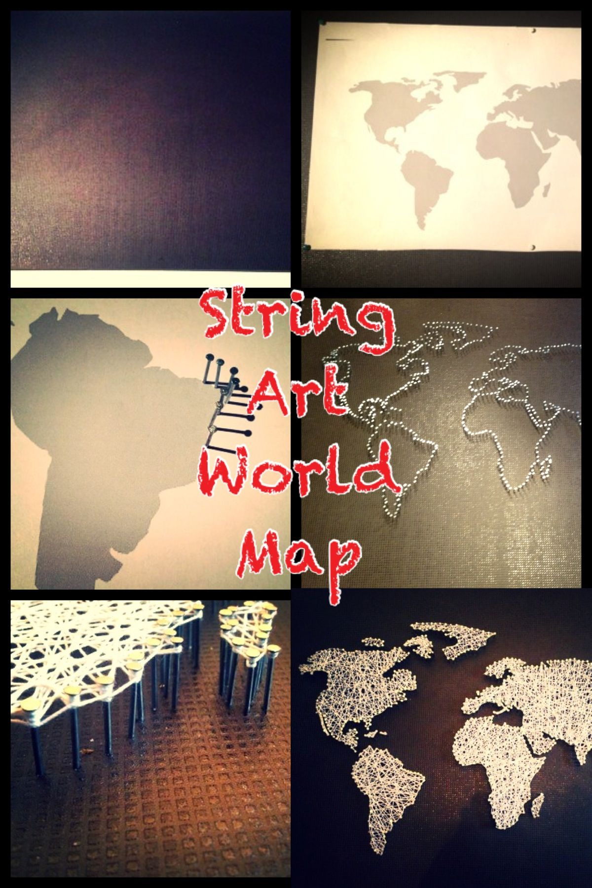 DIY String Art World Map