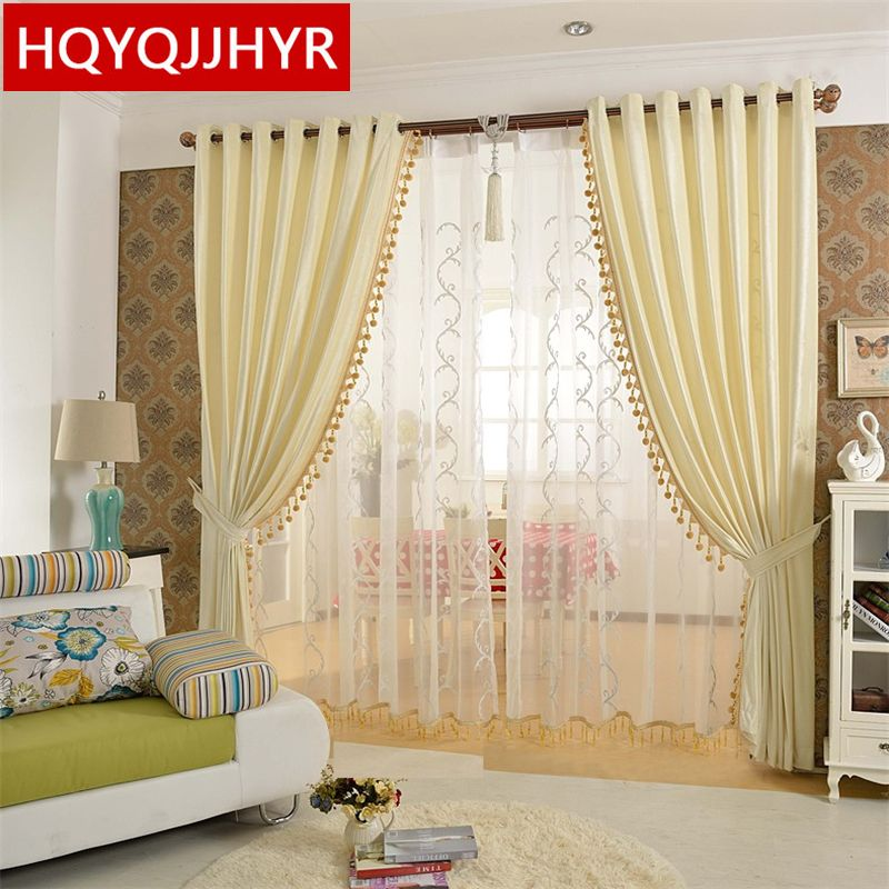 Europeanstyle Luxury Solid Blackout Curtains For Living Room High Amazing Luxury Curtains For Living Room Decorating Design