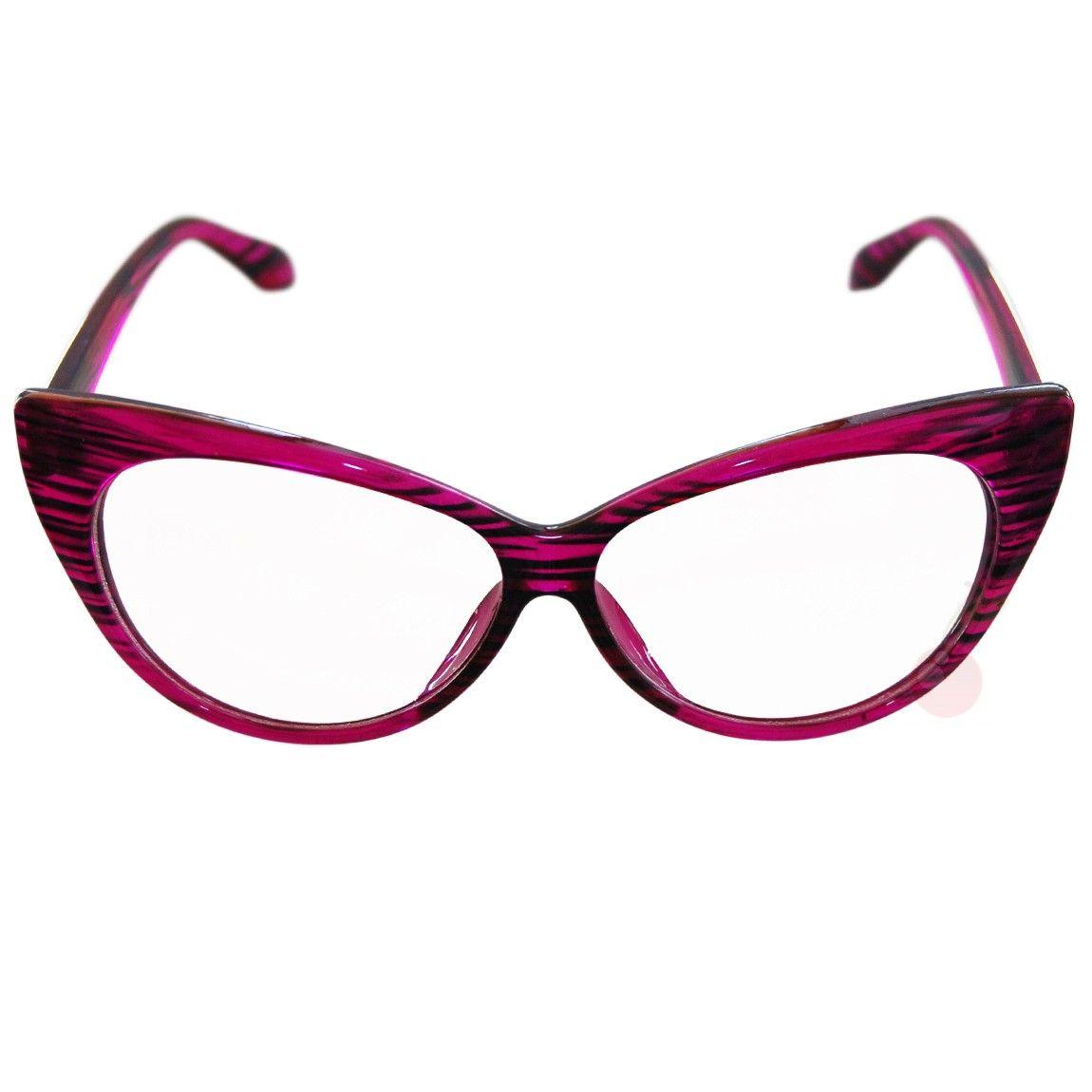 003dc21cf5e 50 s Style Cat Eye Glasses Pink Frame