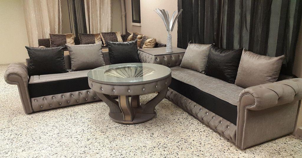 Salon marocain en Cuir design moderne 2016 | salon marocain moderne ...