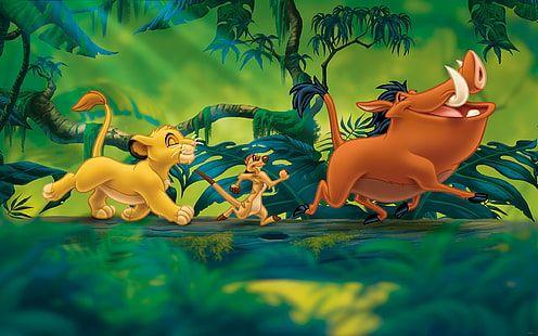HD wallpaper: The Lion King Simba Timon And Pumbaa Cartoons Disney Desktop Wallpaper Hd 2560×1600