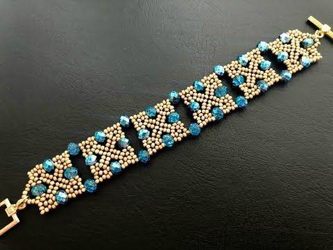 Squarey Beaded Bracelet || How to make Beaded Bracelet || DIY Bracelet || Tutorial - YouTube