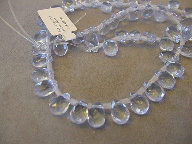 Destash Beads 50 Alexandrite briolette 6x9mm faceted beads and 50 - 4x6mm Alexandrite tear drop beads Destash briolette beads by Magicclosetbling on Etsy