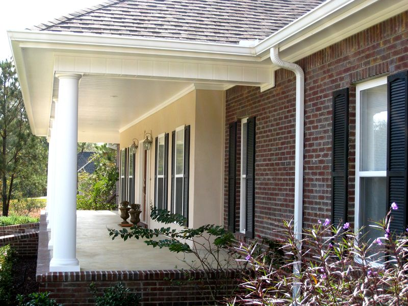 Columns Define The Beautiful Covered Front Porch Plan