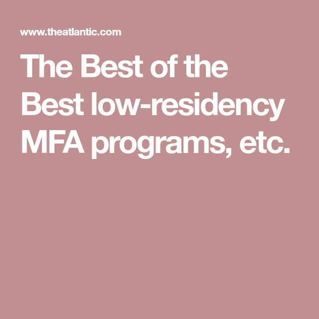 The Best of the Best | Online School | Mfa creative writing