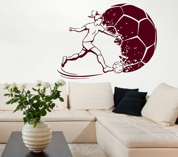 soccer wall decals girl football playerwalldecalswithlove