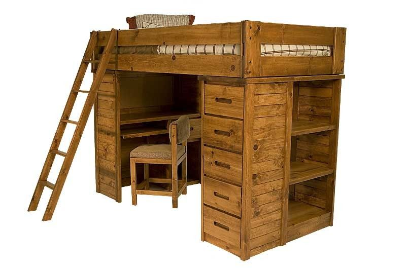 Young Pioneer Student Loft Twin Bed Bunk Beds Kids