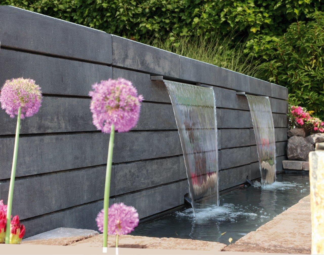 Lineo Mauerstein Wasserfall Diy Beton Garten Gartenbrunnen Wasserfall Garten Wasserbecken Garten Diy Gartenprojekte