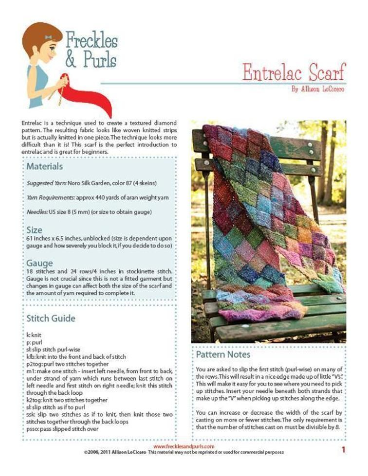 Entrelac Scarf | Craftsy | Knitting | Pinterest | Tejido