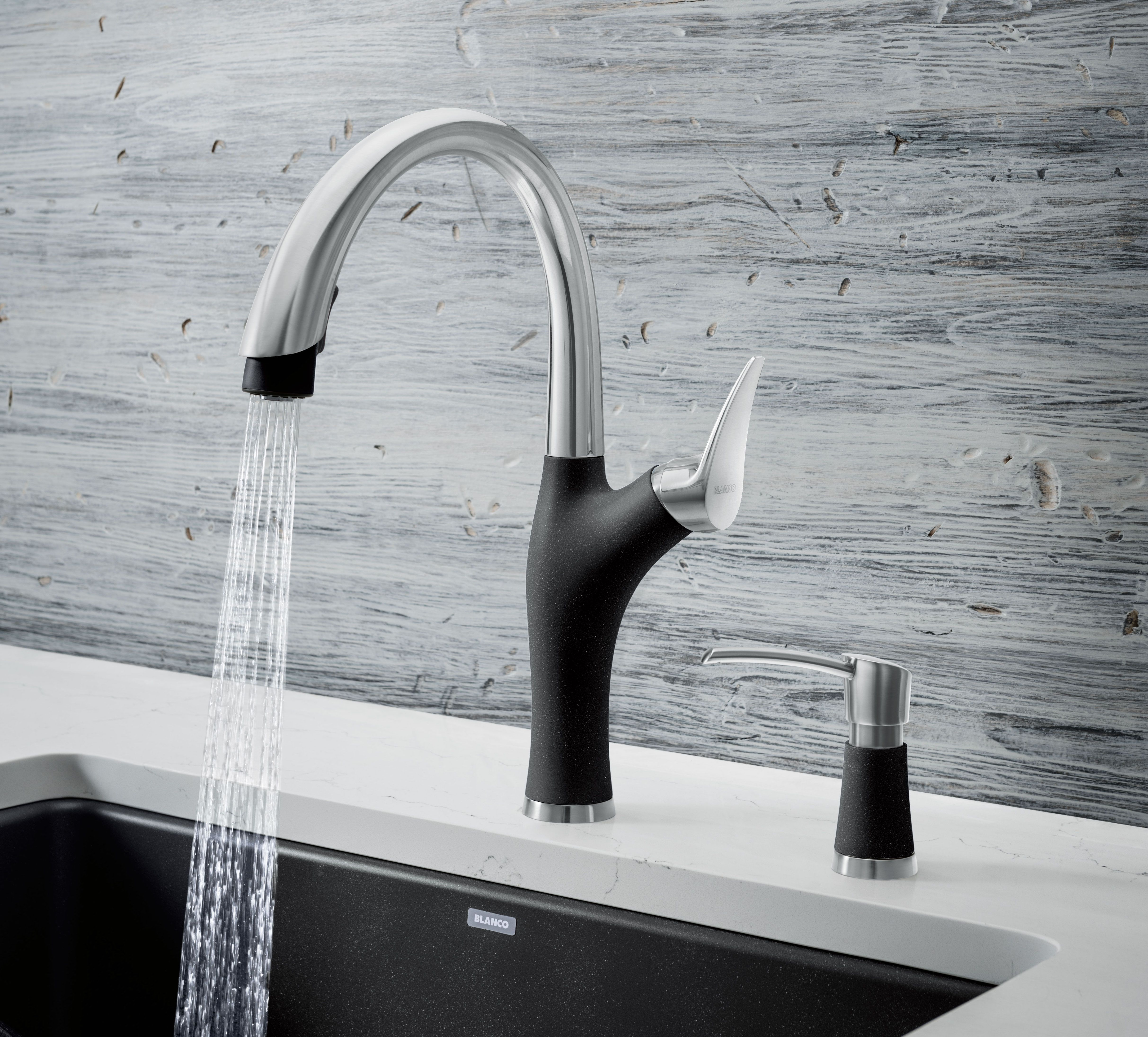 blanco s artona faucet collection offers an organic shape with soft rounded curves and edges blancokitchenfa kitchen faucet faucet kitchen faucets pull down